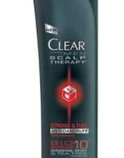 CLEAR MEN SCALP THERAPY AntiDandruff Shampoo, Strong & Full, 12.9 Fluid Ounce