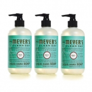 Mrs. Meyers Clean Day Liquid Hand Soap, Basil, 12.50 oz, 3 pack