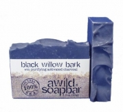 A Wild Soap Bar~black willow bark with purifying activated charcoal