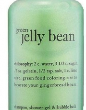 Philosophy Green Jelly Bean Shampoo, Shower Gel & Bubble Bath (120ml) SEALED *Limited Edition*